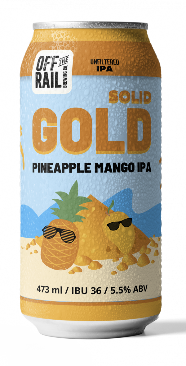 Off The Rail Brewing - Solid Gold IPA